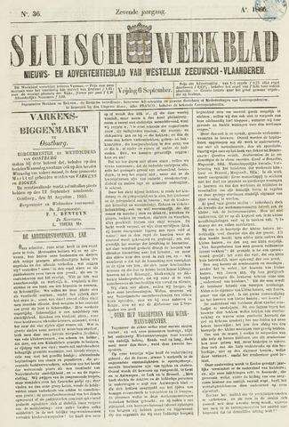 Sluisch Weekblad. Nieuws- en advertentieblad voor Westelijk Zeeuwsch-Vlaanderen 1866-09-07