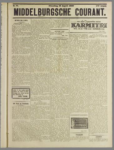 Middelburgsche Courant 1927-04-19