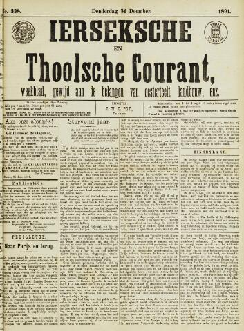 Ierseksche en Thoolsche Courant 1891-12-31