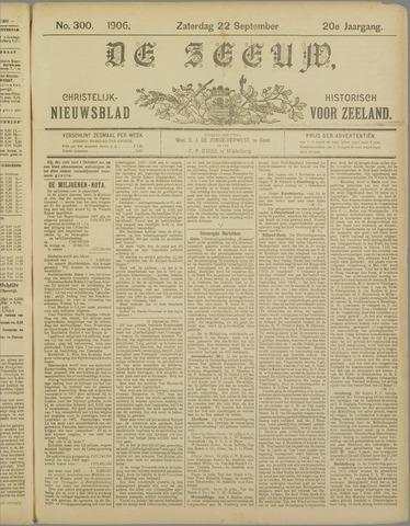 De Zeeuw. Christelijk-historisch nieuwsblad voor Zeeland 1906-09-22