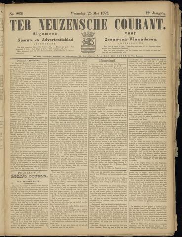 Ter Neuzensche Courant. Algemeen Nieuws- en Advertentieblad voor Zeeuwsch-Vlaanderen / Neuzensche Courant ... (idem) / (Algemeen) nieuws en advertentieblad voor Zeeuwsch-Vlaanderen 1892-05-25