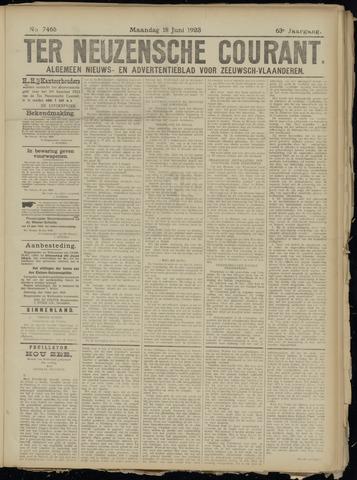 Ter Neuzensche Courant. Algemeen Nieuws- en Advertentieblad voor Zeeuwsch-Vlaanderen / Neuzensche Courant ... (idem) / (Algemeen) nieuws en advertentieblad voor Zeeuwsch-Vlaanderen 1923-06-18