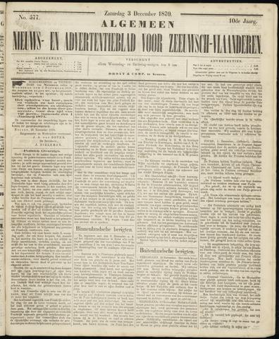 Ter Neuzensche Courant. Algemeen Nieuws- en Advertentieblad voor Zeeuwsch-Vlaanderen / Neuzensche Courant ... (idem) / (Algemeen) nieuws en advertentieblad voor Zeeuwsch-Vlaanderen 1870-12-03