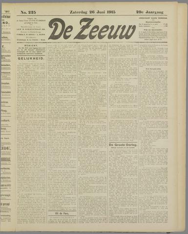 De Zeeuw. Christelijk-historisch nieuwsblad voor Zeeland 1915-06-26