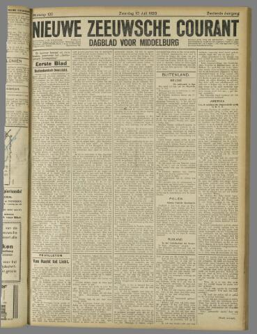 Nieuwe Zeeuwsche Courant 1920-07-10