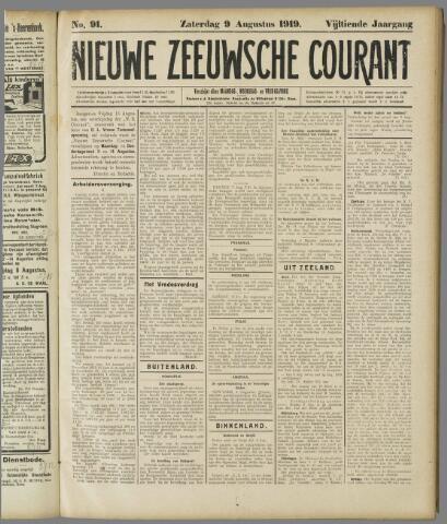 Nieuwe Zeeuwsche Courant 1919-08-09
