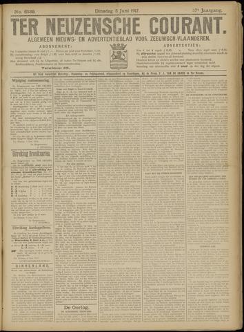 Ter Neuzensche Courant. Algemeen Nieuws- en Advertentieblad voor Zeeuwsch-Vlaanderen / Neuzensche Courant ... (idem) / (Algemeen) nieuws en advertentieblad voor Zeeuwsch-Vlaanderen 1917-06-05