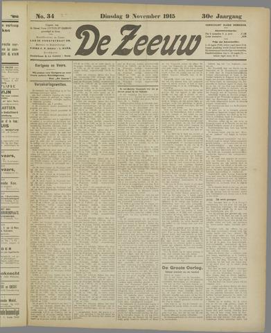 De Zeeuw. Christelijk-historisch nieuwsblad voor Zeeland 1915-11-09
