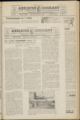 Axelsche Courant 1952-06-18