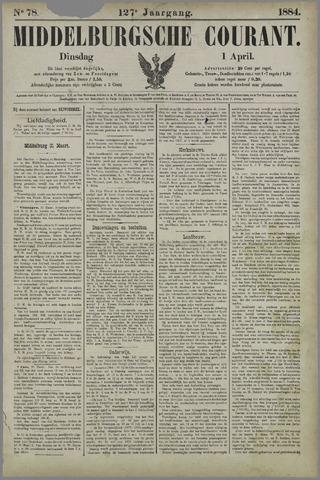 Middelburgsche Courant 1884-04-01