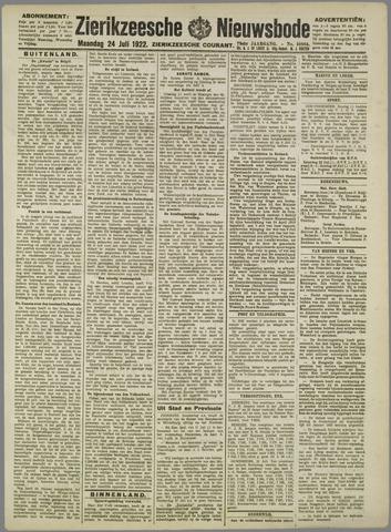 Zierikzeesche Nieuwsbode 1922-07-24