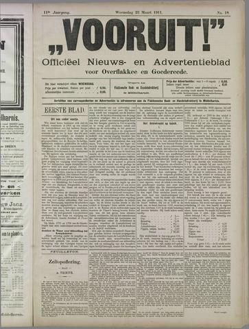 """""""Vooruit!""""Officieel Nieuws- en Advertentieblad voor Overflakkee en Goedereede 1911-03-22"""
