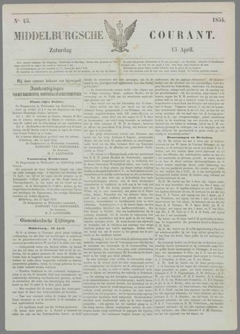 Middelburgsche Courant 1854-04-15