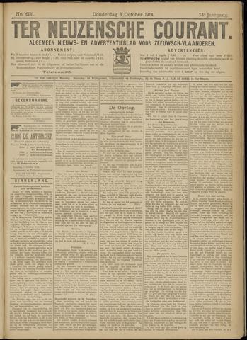 Ter Neuzensche Courant. Algemeen Nieuws- en Advertentieblad voor Zeeuwsch-Vlaanderen / Neuzensche Courant ... (idem) / (Algemeen) nieuws en advertentieblad voor Zeeuwsch-Vlaanderen 1914-10-08