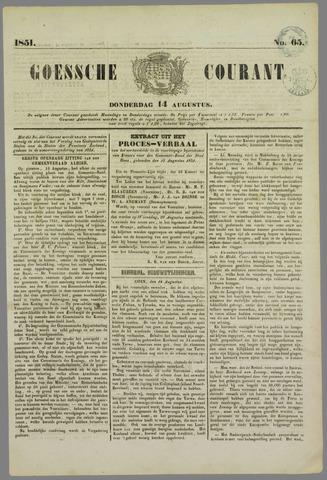 Goessche Courant 1851-08-14