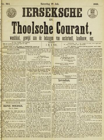 Ierseksche en Thoolsche Courant 1891-07-18