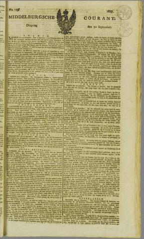 Middelburgsche Courant 1817-09-30