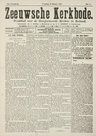 Zeeuwsche kerkbode, weekblad gewijd aan de belangen der gereformeerde kerken/ Zeeuwsch kerkblad 1920-03-12