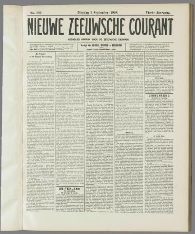 Nieuwe Zeeuwsche Courant 1908-09-01