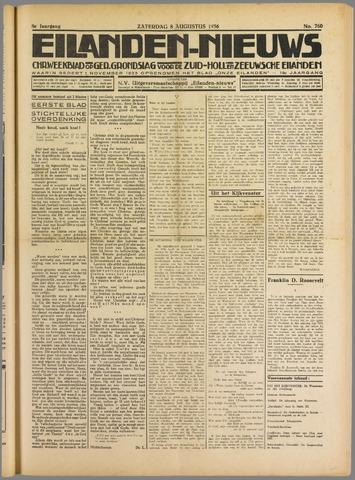Eilanden-nieuws. Christelijk streekblad op gereformeerde grondslag 1936-08-08