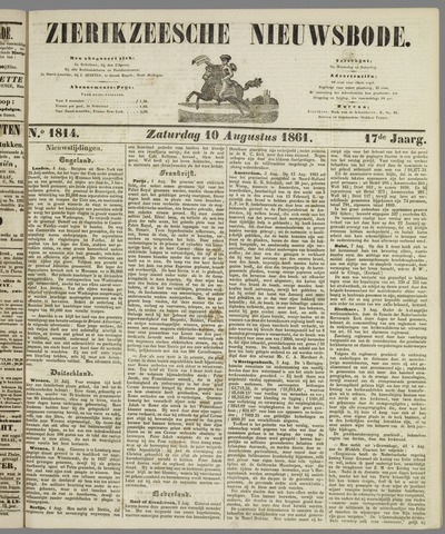 Zierikzeesche Nieuwsbode 1861-08-10