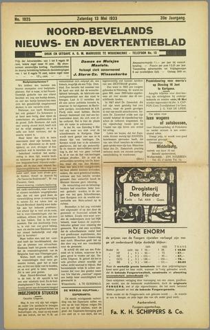 Noord-Bevelands Nieuws- en advertentieblad 1933-05-13