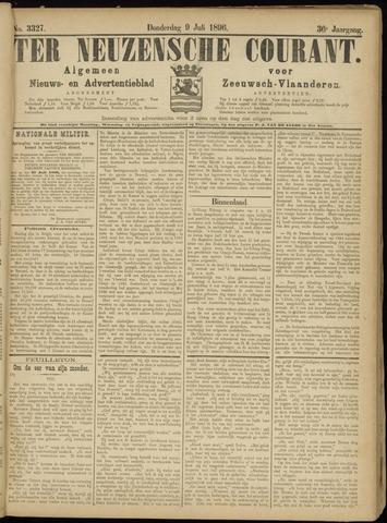 Ter Neuzensche Courant. Algemeen Nieuws- en Advertentieblad voor Zeeuwsch-Vlaanderen / Neuzensche Courant ... (idem) / (Algemeen) nieuws en advertentieblad voor Zeeuwsch-Vlaanderen 1896-07-09