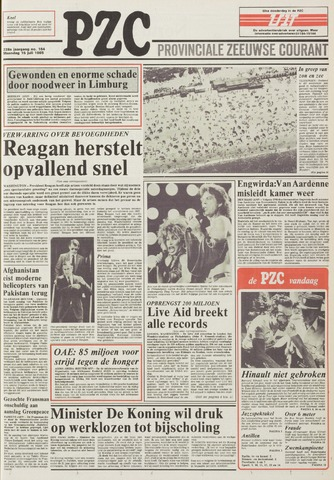 Provinciale Zeeuwse Courant 1985-07-15