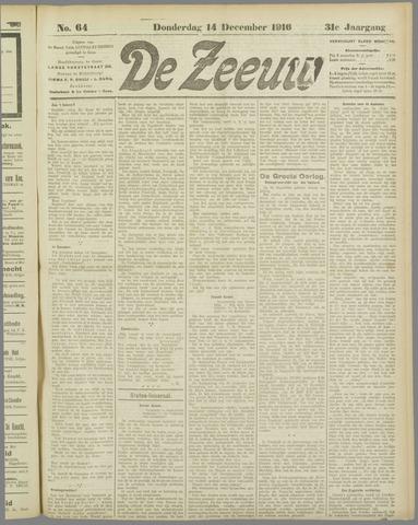 De Zeeuw. Christelijk-historisch nieuwsblad voor Zeeland 1916-12-14