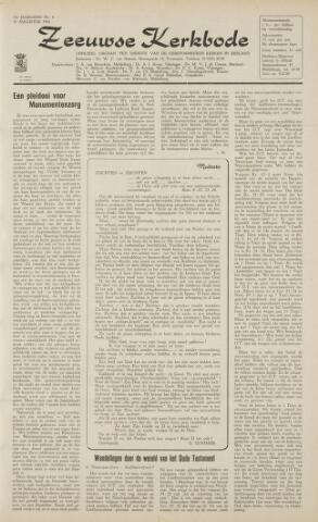 Zeeuwsche kerkbode, weekblad gewijd aan de belangen der gereformeerde kerken/ Zeeuwsch kerkblad 1962-08-10