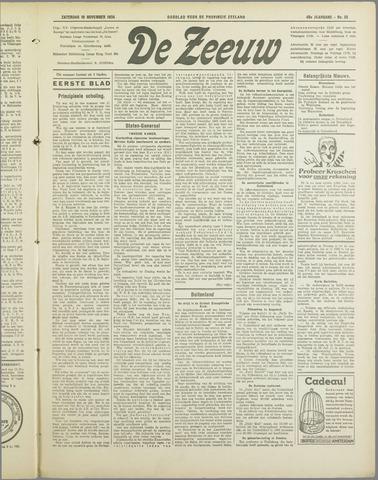De Zeeuw. Christelijk-historisch nieuwsblad voor Zeeland 1934-11-10