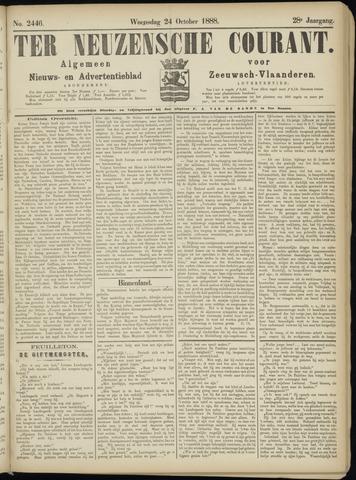 Ter Neuzensche Courant. Algemeen Nieuws- en Advertentieblad voor Zeeuwsch-Vlaanderen / Neuzensche Courant ... (idem) / (Algemeen) nieuws en advertentieblad voor Zeeuwsch-Vlaanderen 1888-10-24