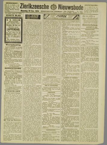 Zierikzeesche Nieuwsbode 1924-12-29