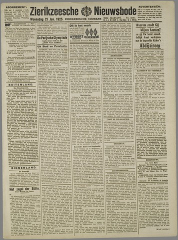 Zierikzeesche Nieuwsbode 1925-01-21