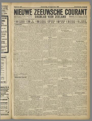 Nieuwe Zeeuwsche Courant 1921-09-29