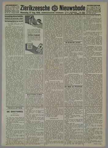 Zierikzeesche Nieuwsbode 1930-08-27
