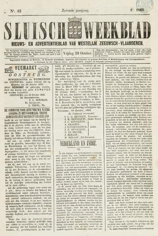 Sluisch Weekblad. Nieuws- en advertentieblad voor Westelijk Zeeuwsch-Vlaanderen 1866-10-19