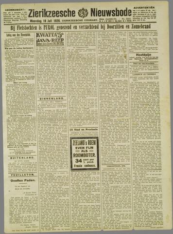 Zierikzeesche Nieuwsbode 1926-07-19