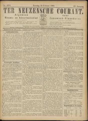 Ter Neuzensche Courant. Algemeen Nieuws- en Advertentieblad voor Zeeuwsch-Vlaanderen / Neuzensche Courant ... (idem) / (Algemeen) nieuws en advertentieblad voor Zeeuwsch-Vlaanderen 1905-02-25