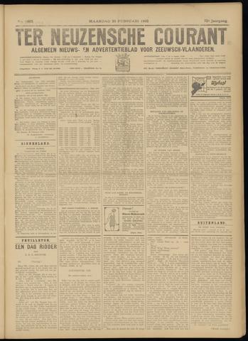 Ter Neuzensche Courant. Algemeen Nieuws- en Advertentieblad voor Zeeuwsch-Vlaanderen / Neuzensche Courant ... (idem) / (Algemeen) nieuws en advertentieblad voor Zeeuwsch-Vlaanderen 1932-02-29