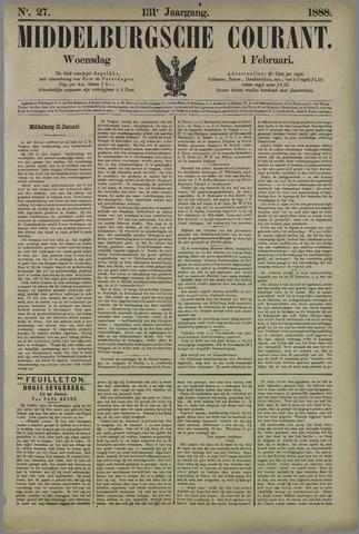 Middelburgsche Courant 1888-02-01