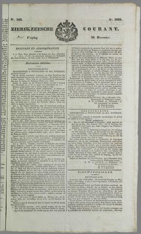 Zierikzeesche Courant 1824-12-26