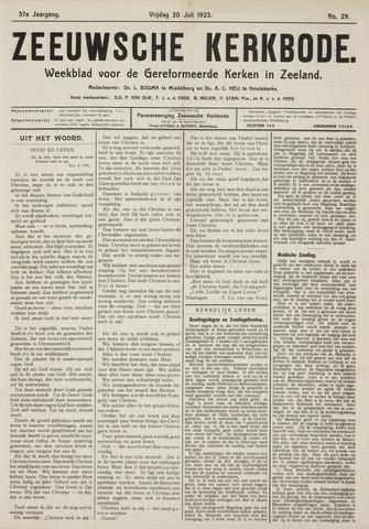 Zeeuwsche kerkbode, weekblad gewijd aan de belangen der gereformeerde kerken/ Zeeuwsch kerkblad 1923-07-20