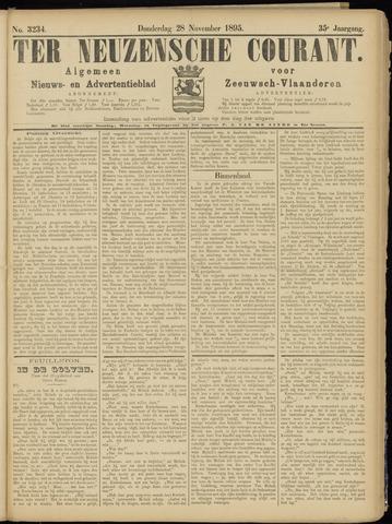 Ter Neuzensche Courant. Algemeen Nieuws- en Advertentieblad voor Zeeuwsch-Vlaanderen / Neuzensche Courant ... (idem) / (Algemeen) nieuws en advertentieblad voor Zeeuwsch-Vlaanderen 1895-11-28