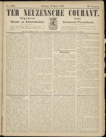 Ter Neuzensche Courant. Algemeen Nieuws- en Advertentieblad voor Zeeuwsch-Vlaanderen / Neuzensche Courant ... (idem) / (Algemeen) nieuws en advertentieblad voor Zeeuwsch-Vlaanderen 1883-03-31