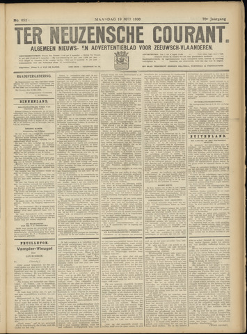 Ter Neuzensche Courant. Algemeen Nieuws- en Advertentieblad voor Zeeuwsch-Vlaanderen / Neuzensche Courant ... (idem) / (Algemeen) nieuws en advertentieblad voor Zeeuwsch-Vlaanderen 1930-05-19