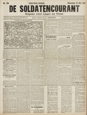 De Soldatencourant. Orgaan voor Leger en Vloot 1915-05-19