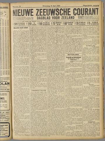Nieuwe Zeeuwsche Courant 1923-04-18