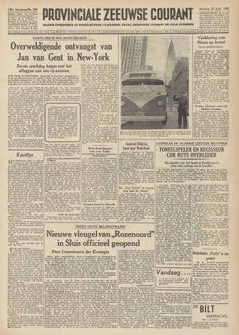 Provinciale Zeeuwse Courant 1952-09-23