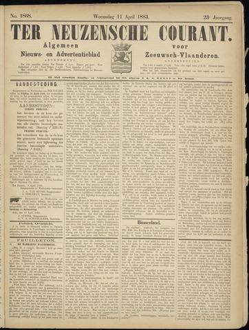 Ter Neuzensche Courant. Algemeen Nieuws- en Advertentieblad voor Zeeuwsch-Vlaanderen / Neuzensche Courant ... (idem) / (Algemeen) nieuws en advertentieblad voor Zeeuwsch-Vlaanderen 1883-04-11